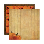 Reminisce - Signature Series Collection - 12 x 12 Double Sided Paper - Pumpkin Patch