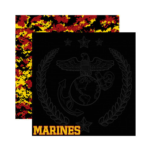 Reminisce - Signature Series Collection - 12 x 12 Double Sided Paper - Marines