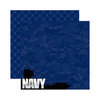 Reminisce - Signature Series Collection - 12 x 12 Double Sided Paper - Navy