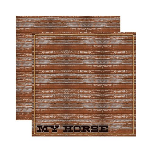 Reminisce - Signature Series Collection - 12 x 12 Double Sided Paper - Horses