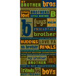 Reminisce - Signature Series Collection - Die Cut Cardstock Stickers - Brothers
