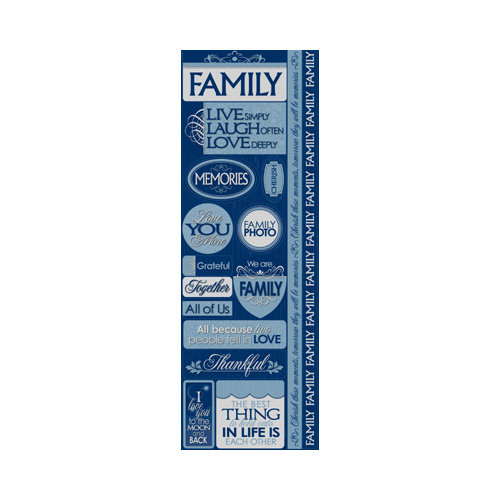 Reminisce - Signature Series Collection - Cardstock Stickers - Combo - Our Family