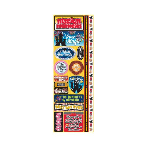 Reminisce - Signature Series Collection - Cardstock Stickers - Combo - Magical Vacation