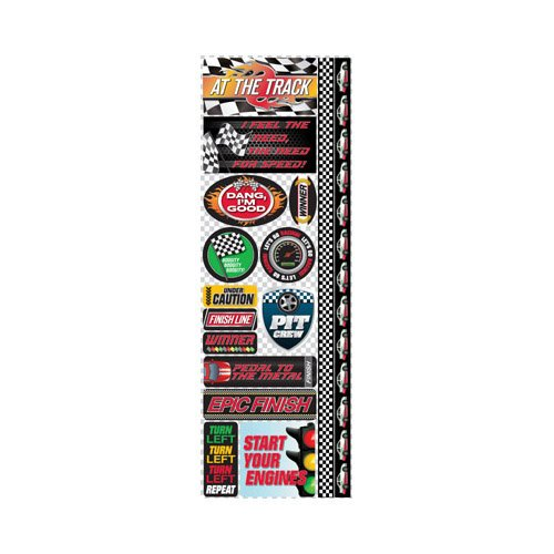 Reminisce - Signature Series Collection - Cardstock Stickers - Combo - Racing