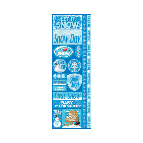 Reminisce - Signature Series Collection - Cardstock Stickers - Combo - Snowflakes
