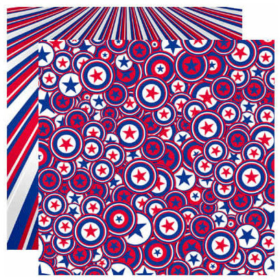 Reminisce - Stars and Stripes Collection - 12 x 12 Double Sided Paper - Captian Liberty