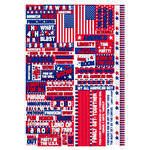 Reminisce - Stars and Stripes Collection - Die Cut Cardstock Stickers - Stars and Stripes Quote