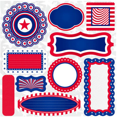 Reminisce - Stars and Stripes Collection - 12 x 12 Cardstock Stickers - Stars and Stripes Journal