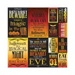 Reminisce - Spellbound Collection - Halloween - 12 x 12 Cardstock Stickers - Poster