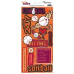 Reminisce - Sports Chick - Cardstock Stickers - Softball