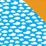 Reminisce - Toy Box Collection - 12 x 12 Double Sided Paper - Cloudy Day