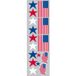 Reminisce - The Freedom Collection - Clear Stickers - Stars and Stripes