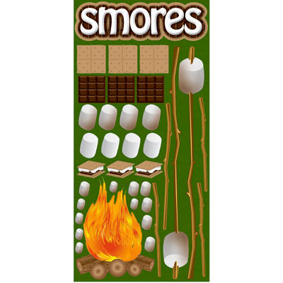 Reminisce - The Great Outdoors Collection - Die Cut Cardstock Stickers - Smore