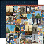 Reminisce - Travelogue Collection - 12 x 12 Double Sided Paper - Midnight in Paris