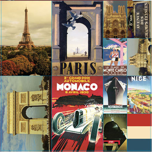 Reminisce - Travelogue Collection - 12 x 12 Cardstock Stickers - Travelogue Paris