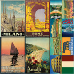 Reminisce - Travelogue Collection - 12 x 12 Cardstock Stickers - Travelogue Italy