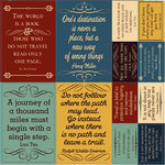 Reminisce - Travelogue Collection - 12 x 12 Cardstock Stickers - Quote