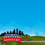 Reminisce - The State Line Collection - 12 x 12 Paper - Kentucky