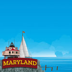 Reminisce - The State Line Collection - 12 x 12 Paper - Maryland