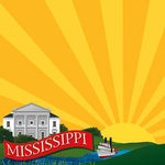 Reminisce - The State Line Collection - 12 x 12 Paper - Mississippi