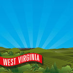 Reminisce - The State Line Collection - 12 x 12 Paper - West Virginia