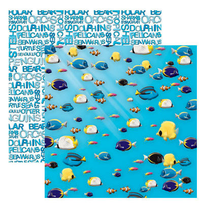 Reminisce - Under The Sea Collection - Seaworld - 12 x 12 Double Sided Paper - The Aquarium