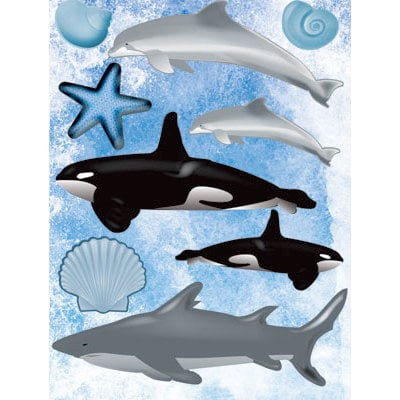 Reminisce - Under The Sea Collection - Seaworld - 3 Dimensional Stickers - Dolphin Whale and Shark