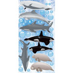 Reminisce - Under The Sea Collection - Seaworld - Chipboard Glitter Stickers - Sea Life
