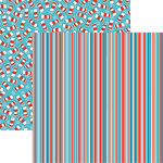 Reminisce - Wacky and Wild Collection - 12 x 12 Double Sided Paper - Stripe