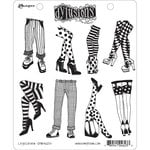 Ranger Ink - Dylusions Stamps - Unmounted Rubber Stamps - Legs Eleven