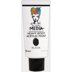 Ranger Ink - Dina Wakley Media - Heavy Body Acrylic Paint - Black