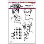 Ranger Ink - Dina Wakley Media - Unmounted Rubber Stamps - Positive Women