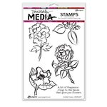 Ranger Ink - Dina Wakley Media - Unmounted Rubber Stamps - Scribbly Flowers
