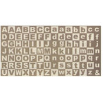 Rusty Pickle - Chipboard Alphabet - Lil Chubby, CLEARANCE