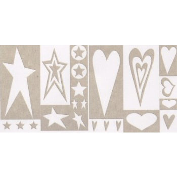 Rusty Pickle - Chipboard Accents - Rock Star