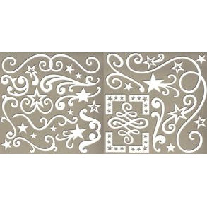 Rusty Pickle - Mayflower Collection - Chipboard Accents - Starry Night