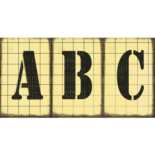 Rusty Pickle - School Daze Collection - Chipboard Alphabet