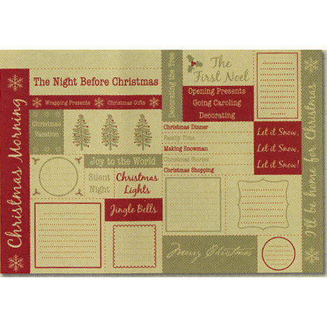 Rusty Pickle - White Christmas Collection - Cardstock Coupons