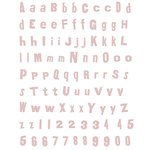 Rusty Pickle - Funky Alphabet Rub-Ons - Pink, CLEARANCE