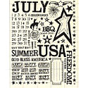 Rusty Pickle - Rub Ons - July - Fireworks - Fourth of July - Summer - Vacation, CLEARANCE