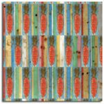 Rusty Pickle Patterned Paper - Primitive Carrots, CLEARANCE