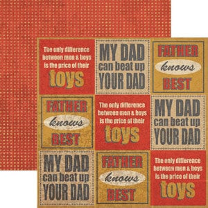 Rusty Pickle - Double Sided Paper - Pickelicious Collection - Father Knows Best