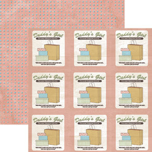 Rusty Pickle - Double Sided Paper - Pickelicious Collection - Daddy's Girl, CLEARANCE