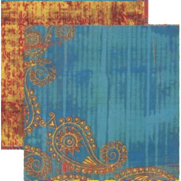 Rusty Pickle - Pashmina Collection - Doublesided Paper - Varuni, CLEARANCE