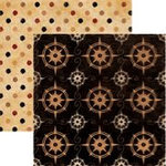 Rusty Pickle - Cap'n Jack Collection - Double Sided Paper - Black Pearl, CLEARANCE