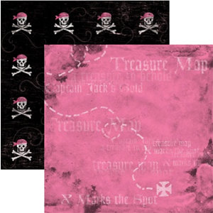 Rusty Pickle - Pirate Princess Collection - 12x12 Paper - Anne Bonney
