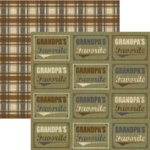 Rusty Pickle - Pickelicious Collection - 12x12 Paper - Grandpa's Favorite, CLEARANCE