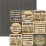Rusty Pickle - Pickelicious Collection - 12x12 Paper - We Love Grandpa, CLEARANCE