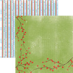 Rusty Pickle - Snowflakes and Mittens Collection - Christmas - 12x12 Double Sided Paper - Holiday Berries