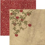Rusty Pickle - French Market Collection - 12x12 Double Sided Paper - Pomme , CLEARANCE